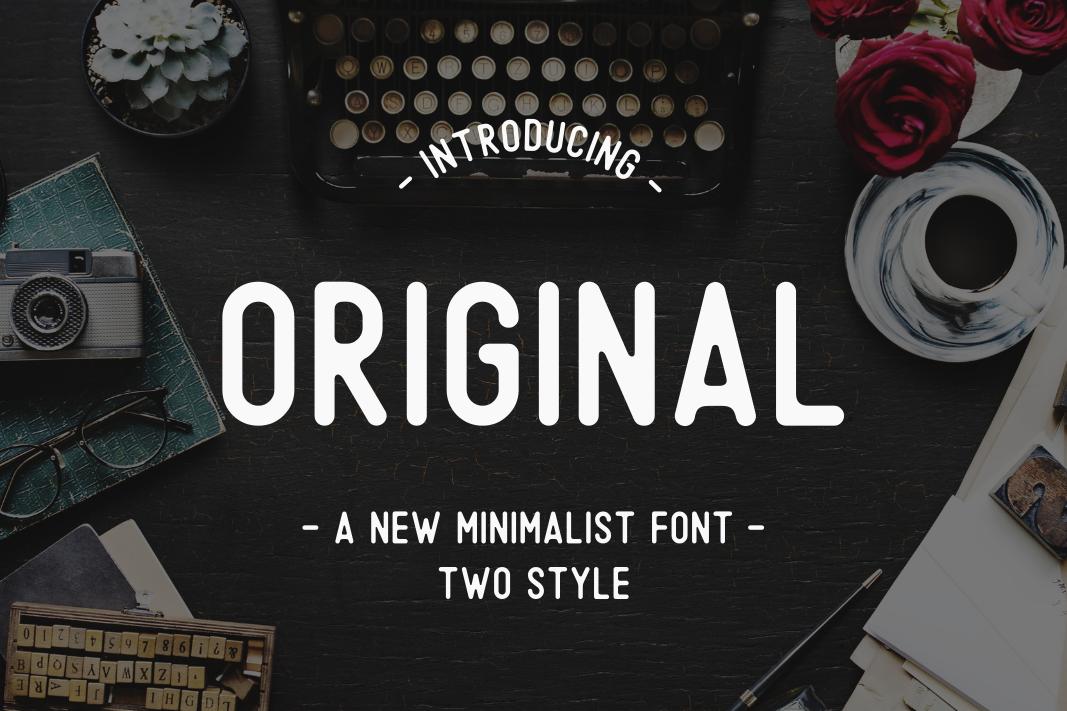 Original - A Minimalist Font example image 1