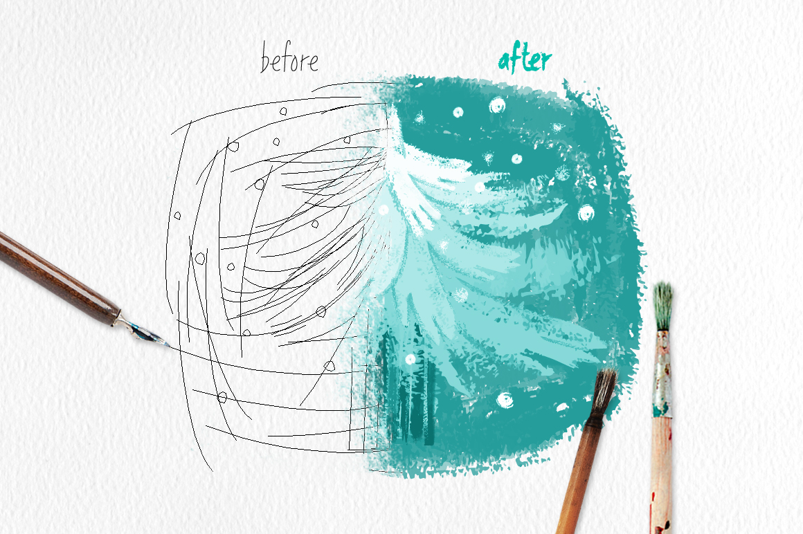 Old Brushes for Illustrator example image 3