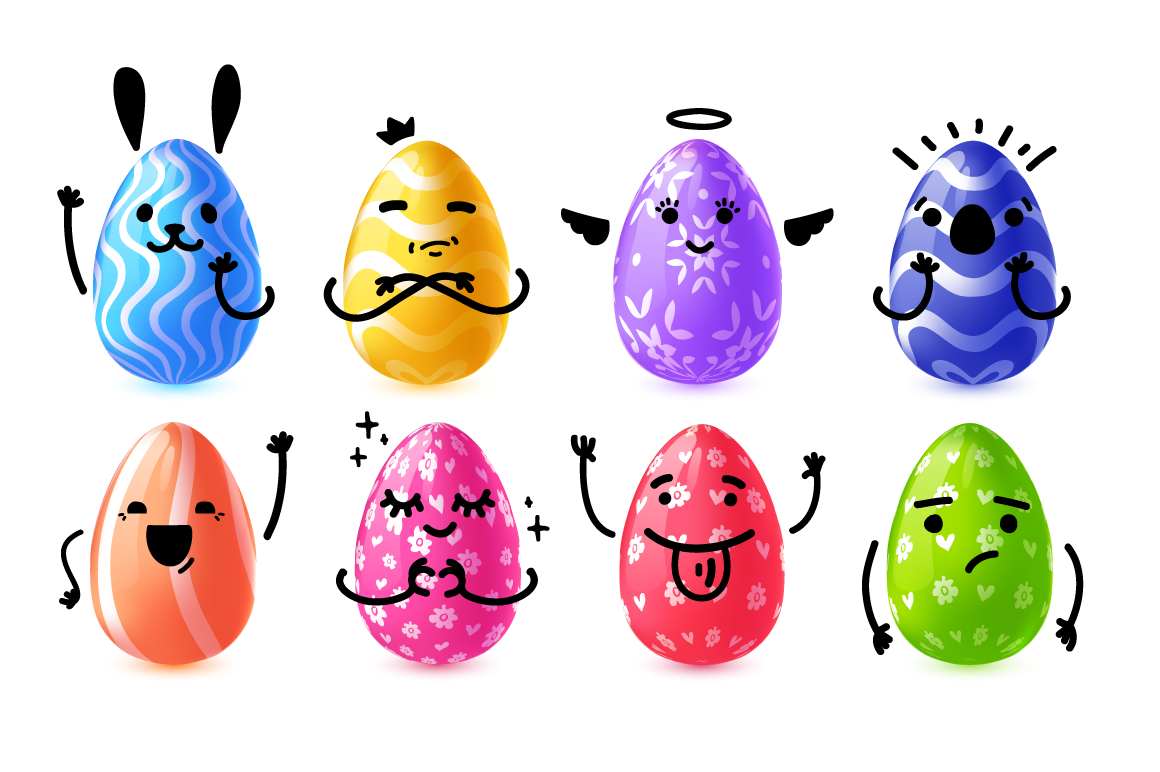 Collection of Easter eggs character example image 2