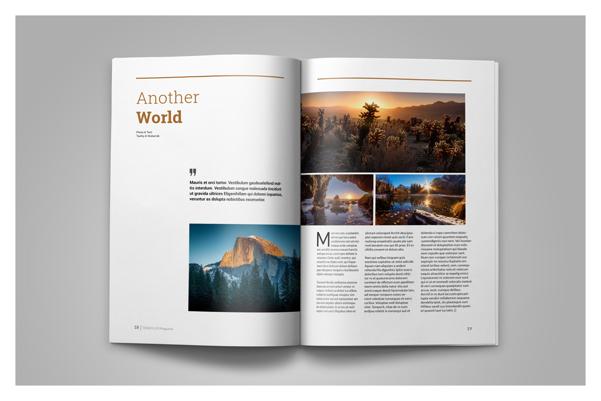 Indesign Magazine Template example image 12
