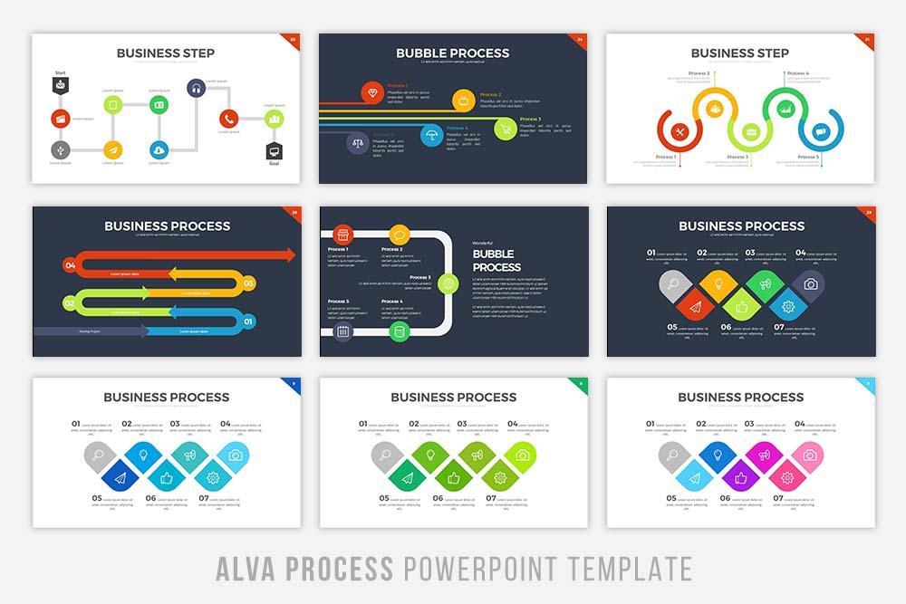 Alva Process Powerpoint Template example image 2