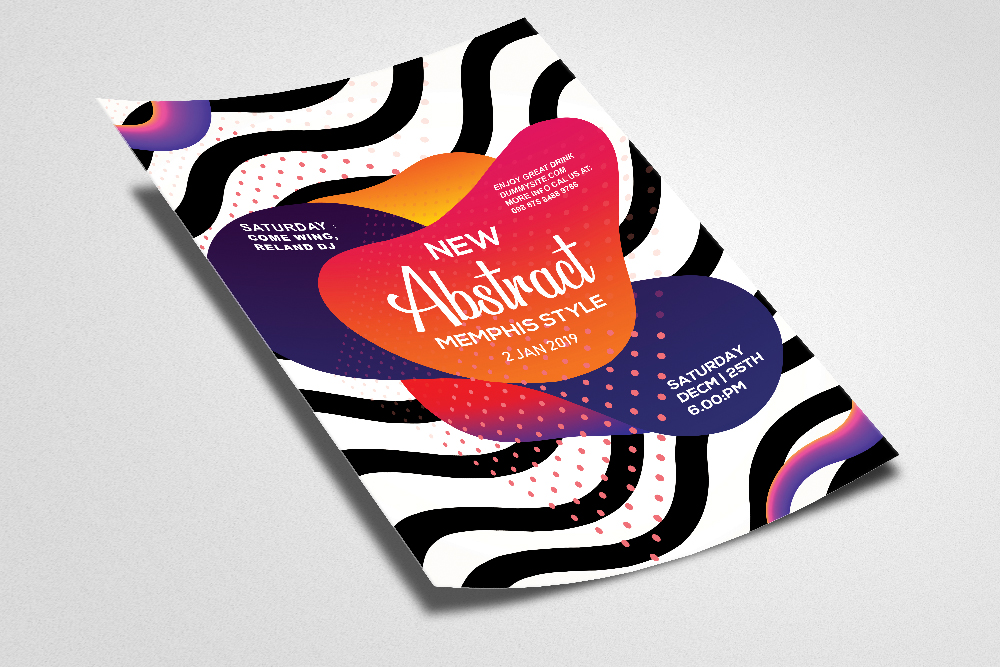 Abstract Gradiant Flyer Template example image 2