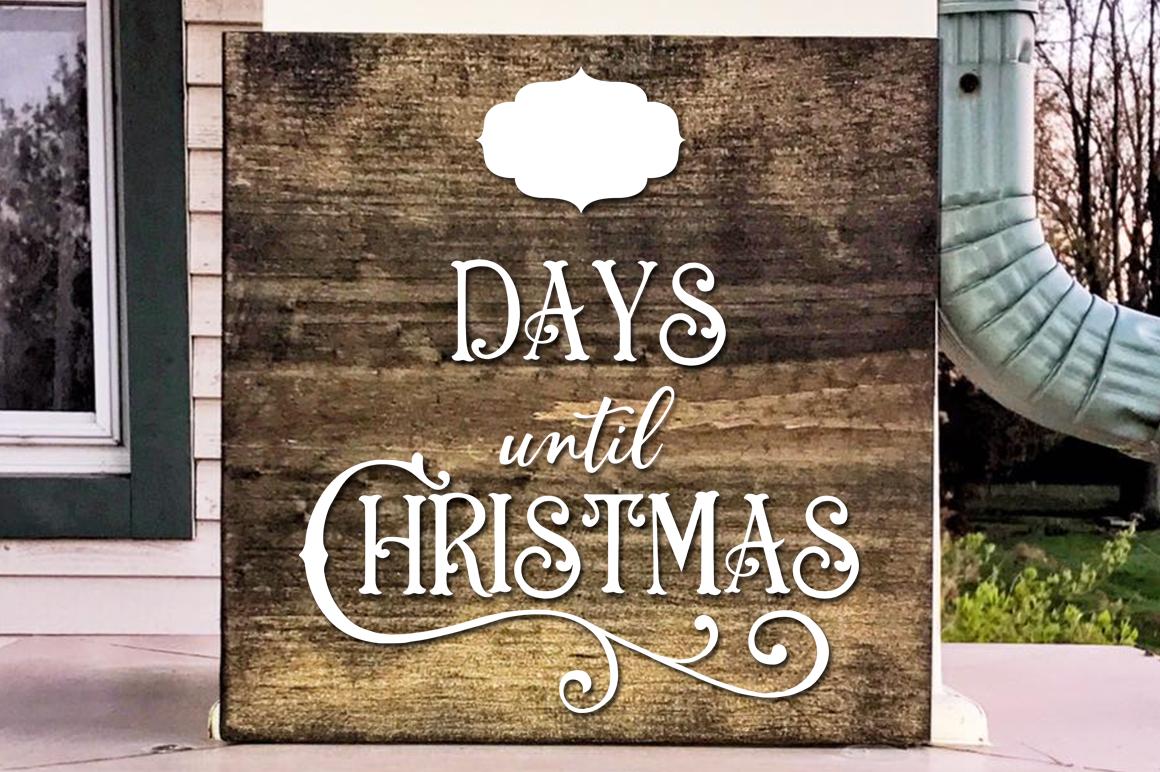 Ana Stasia & Co christmas countdown svg cut file