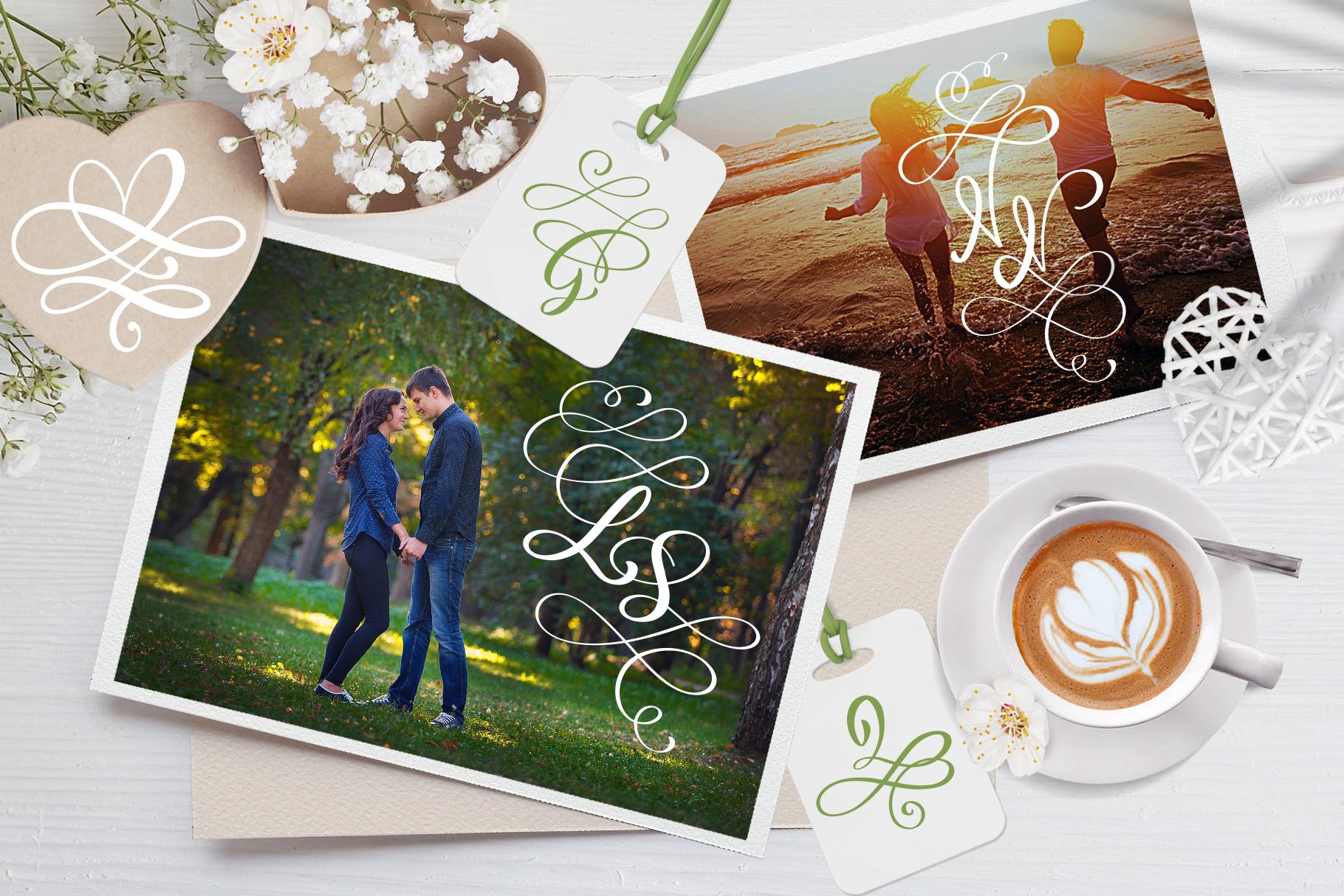 Love Story Monogram Font example image 2