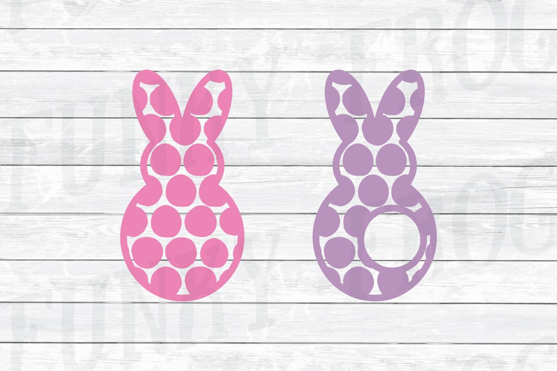 Easter Monogram Frame Bundle - Egg and Bunny SVG Cut Files example image 4