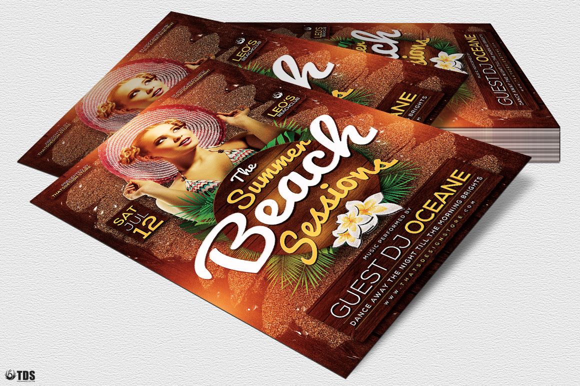 Summer Beach Flyer Template V3 example image 5