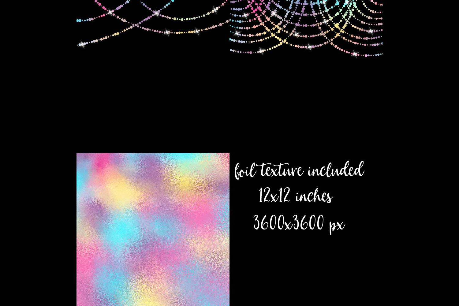 Unicorn Colors String Lights Clipart example image 3
