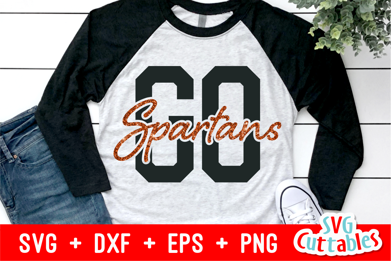 Go Spartans | Sports Mascot Design | SVG Cut File example image 2