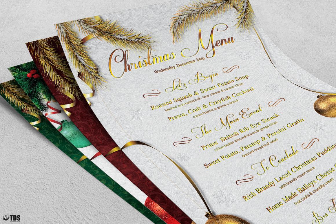 Christmas Menu Template V1 example image 6