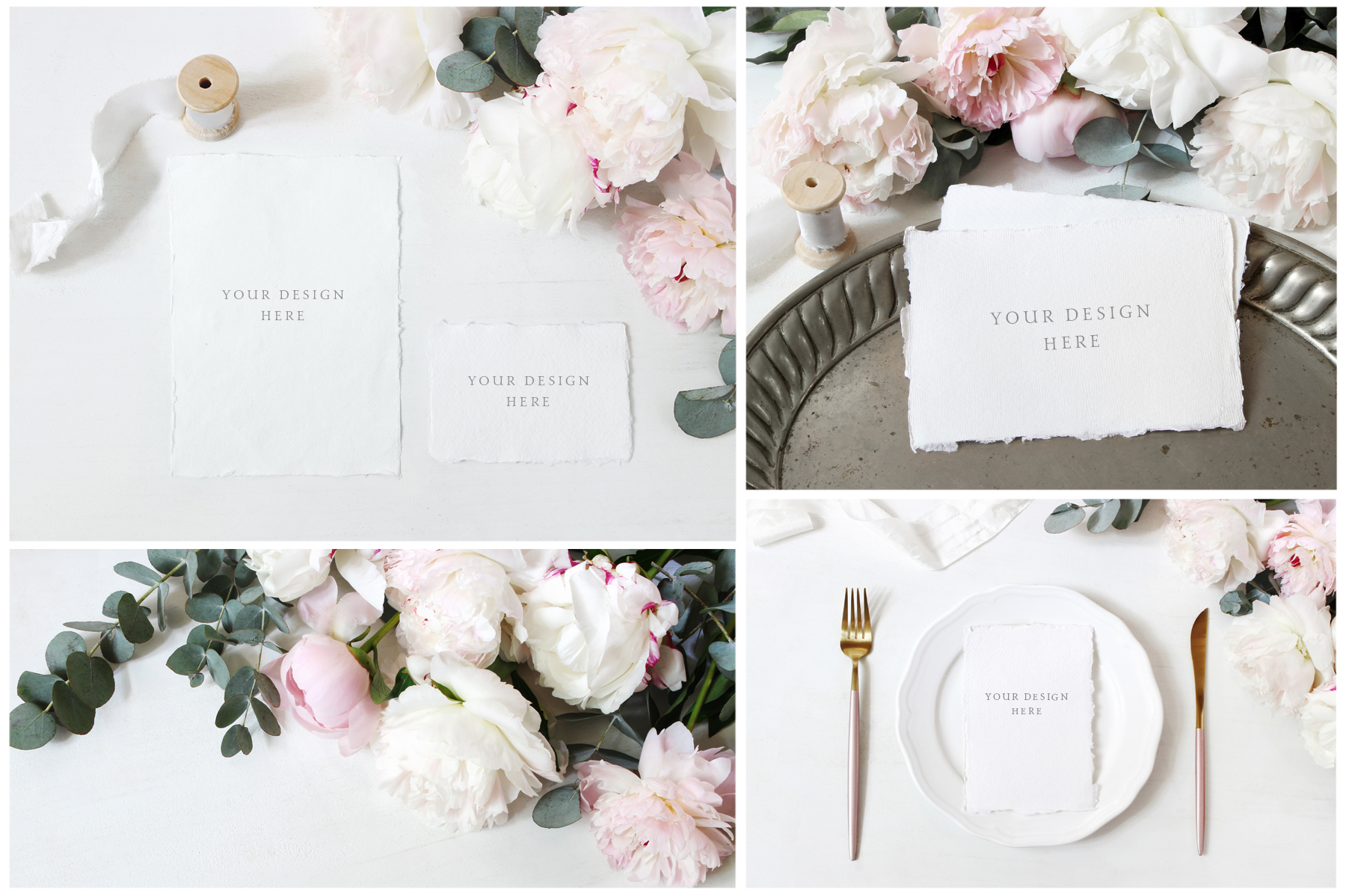 Vintage peony wedding mockups & stock photo bundle example image 4