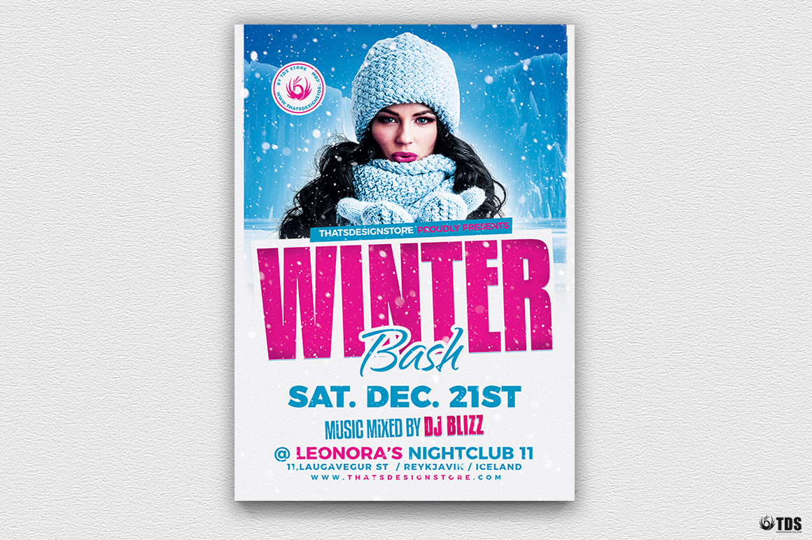 Winter Bash Flyer Template V4 example image 2