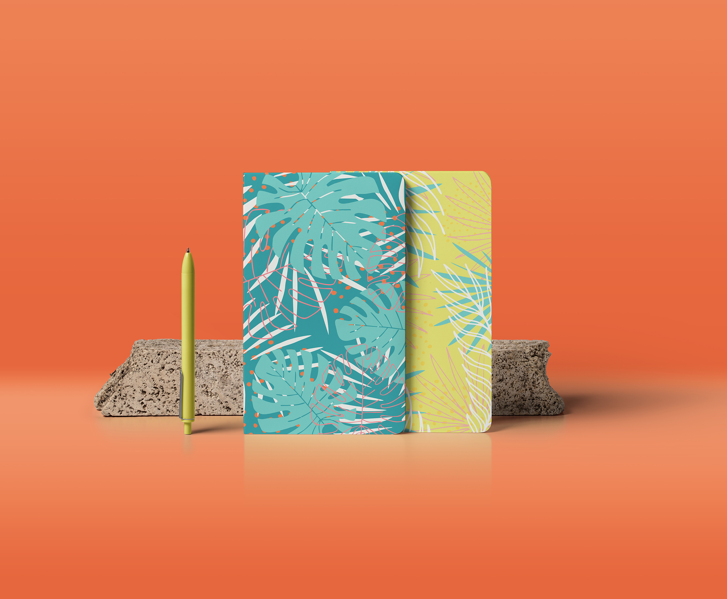 Hide in tropical leaves! Summer hand drawn patterns set example image 9