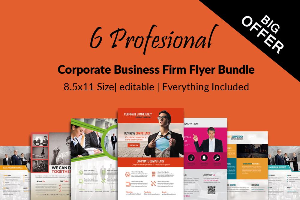 6 Creative Business Flyers Bundle example image 1