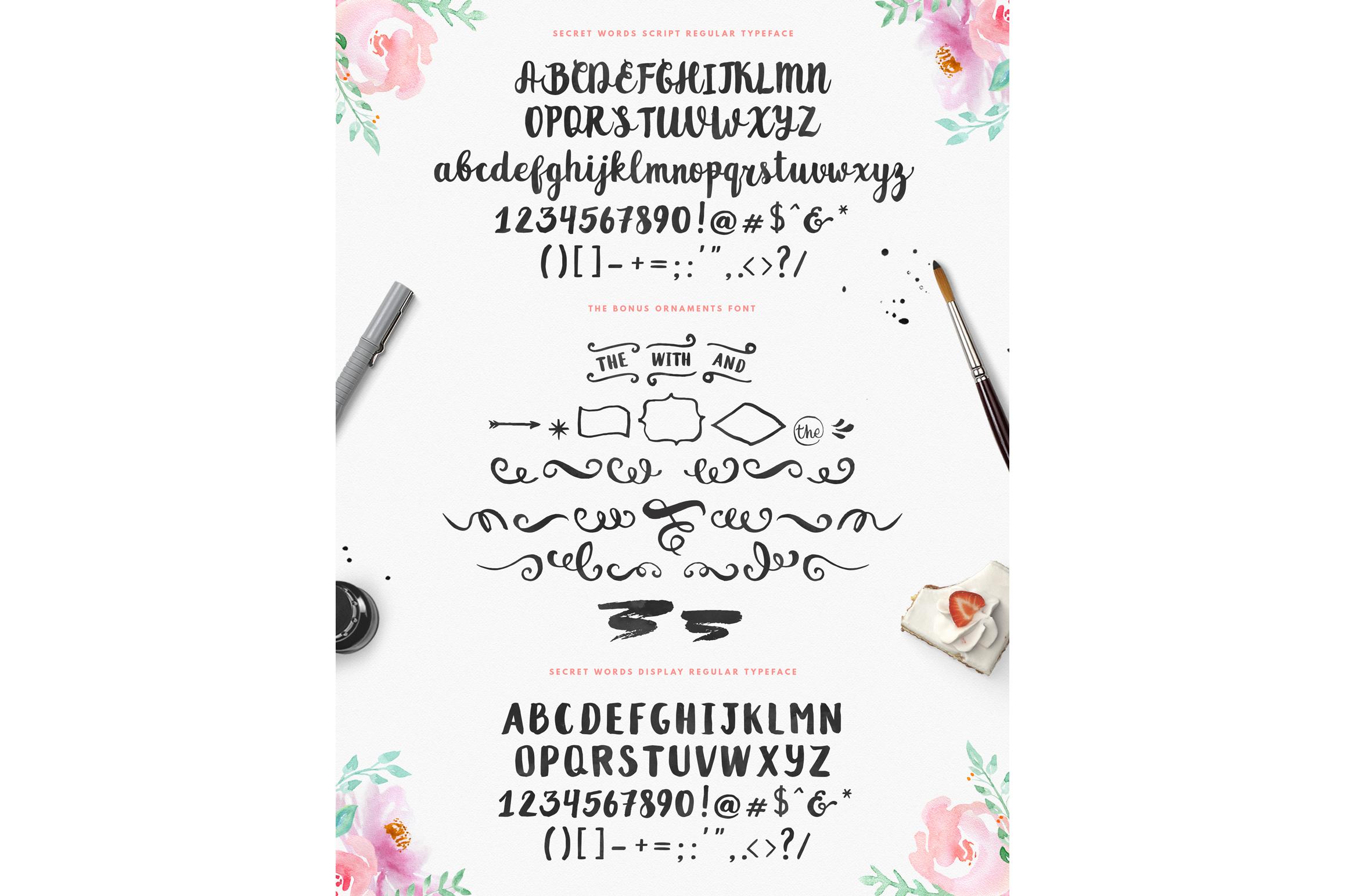 Secret Words Font Duo + Bonus example image 2