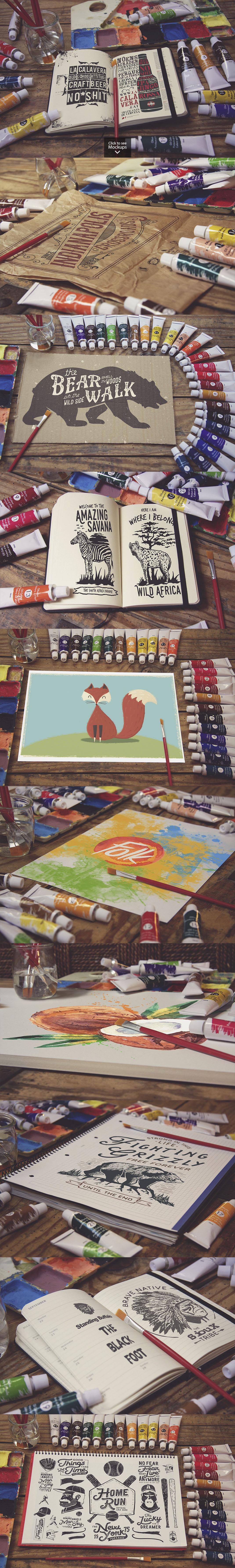 50 Art Mockups Bundle -60OFF example image 6