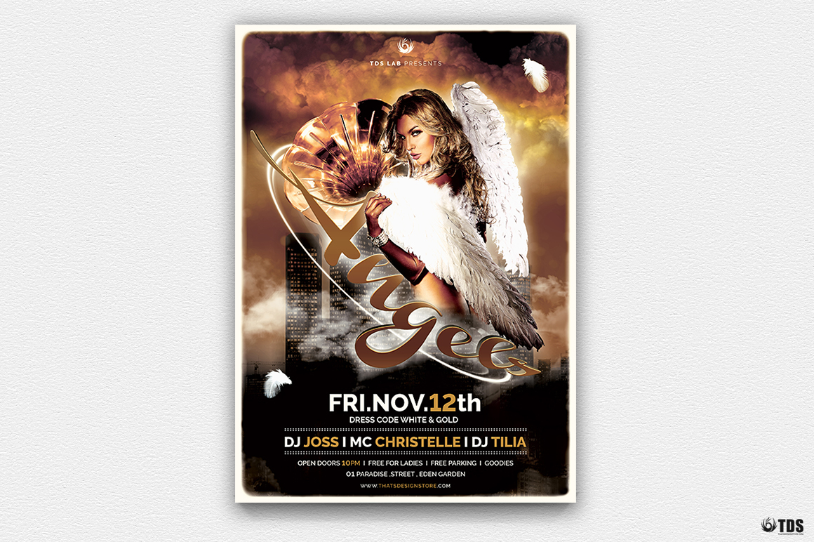Angels Party Flyer Bundle example image 3