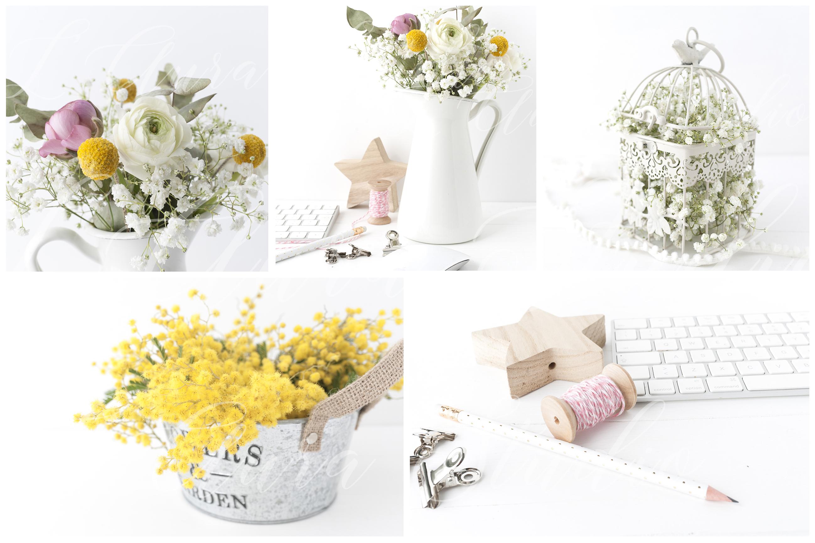 Spring Floral 8× Frame Mockup Bundle example image 3