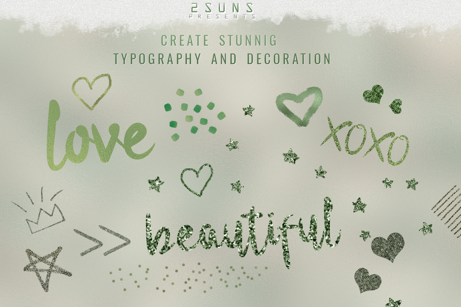 Green Dream digital papers textures, background, invitation example image 8