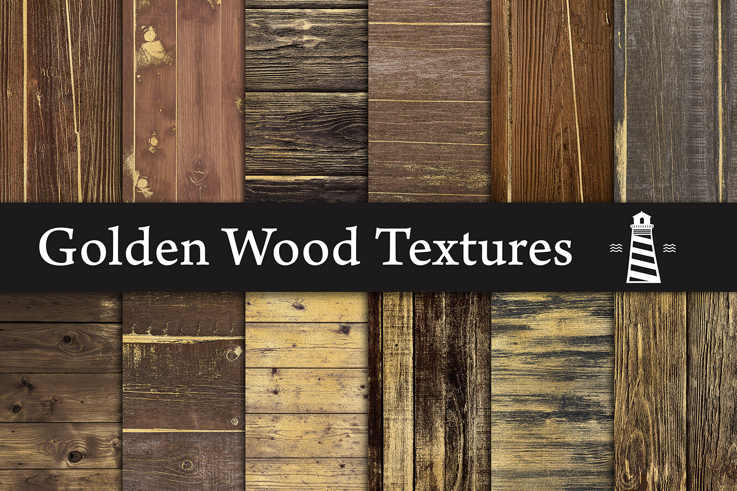 Gold Wooden Textures, Rustic Gold Wood Digital Paper example image 1