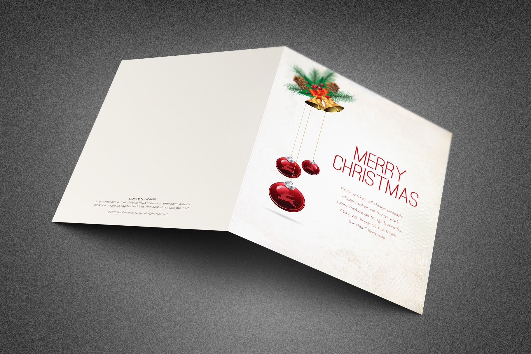 Merry Christmas Greeting Card example image 3
