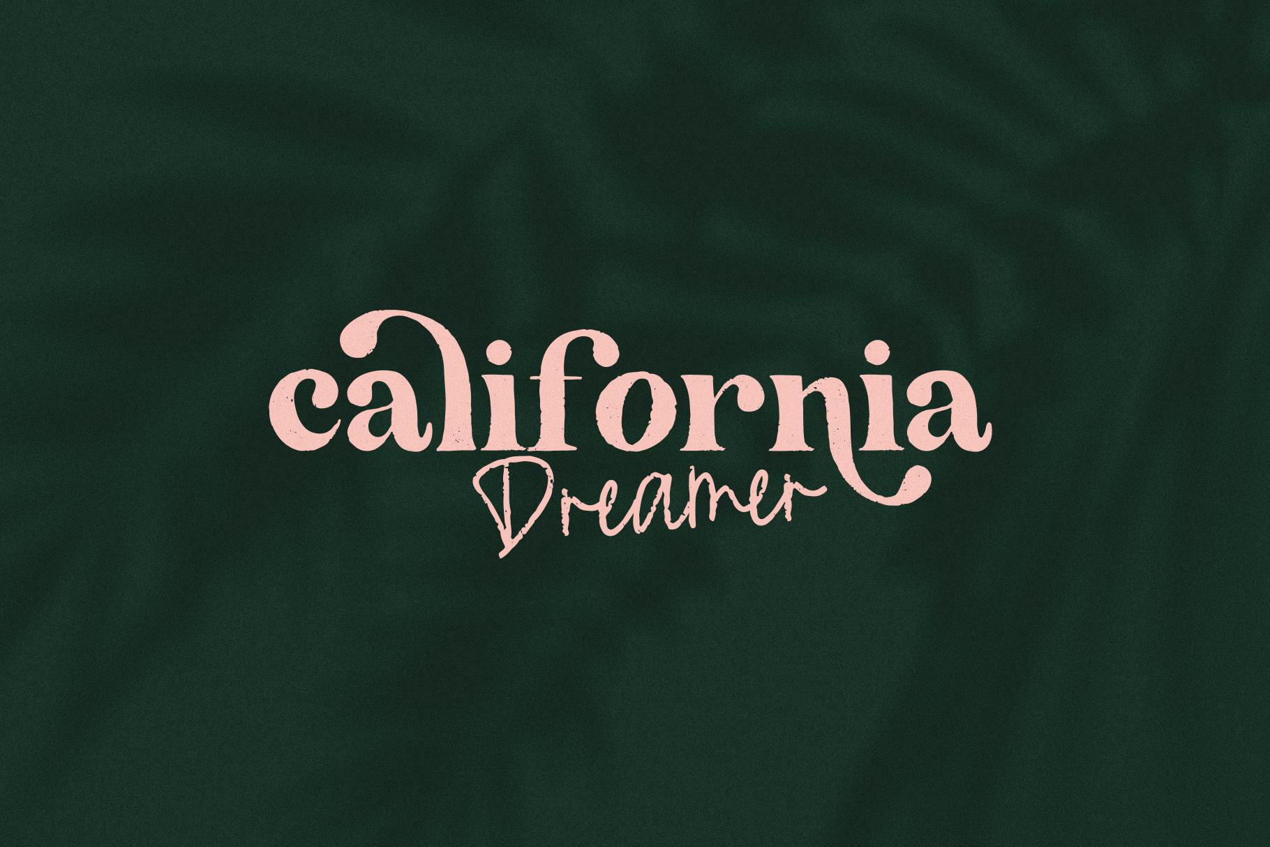 The California - A Serif/Script Handwritten Font Duo example image 15