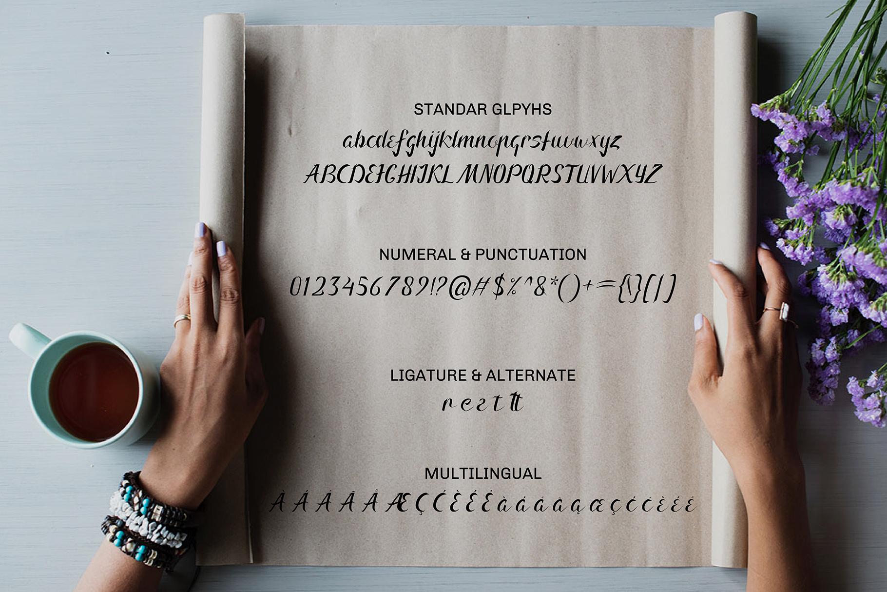 Arnietty - Luxury Font & Uniqe example image 2