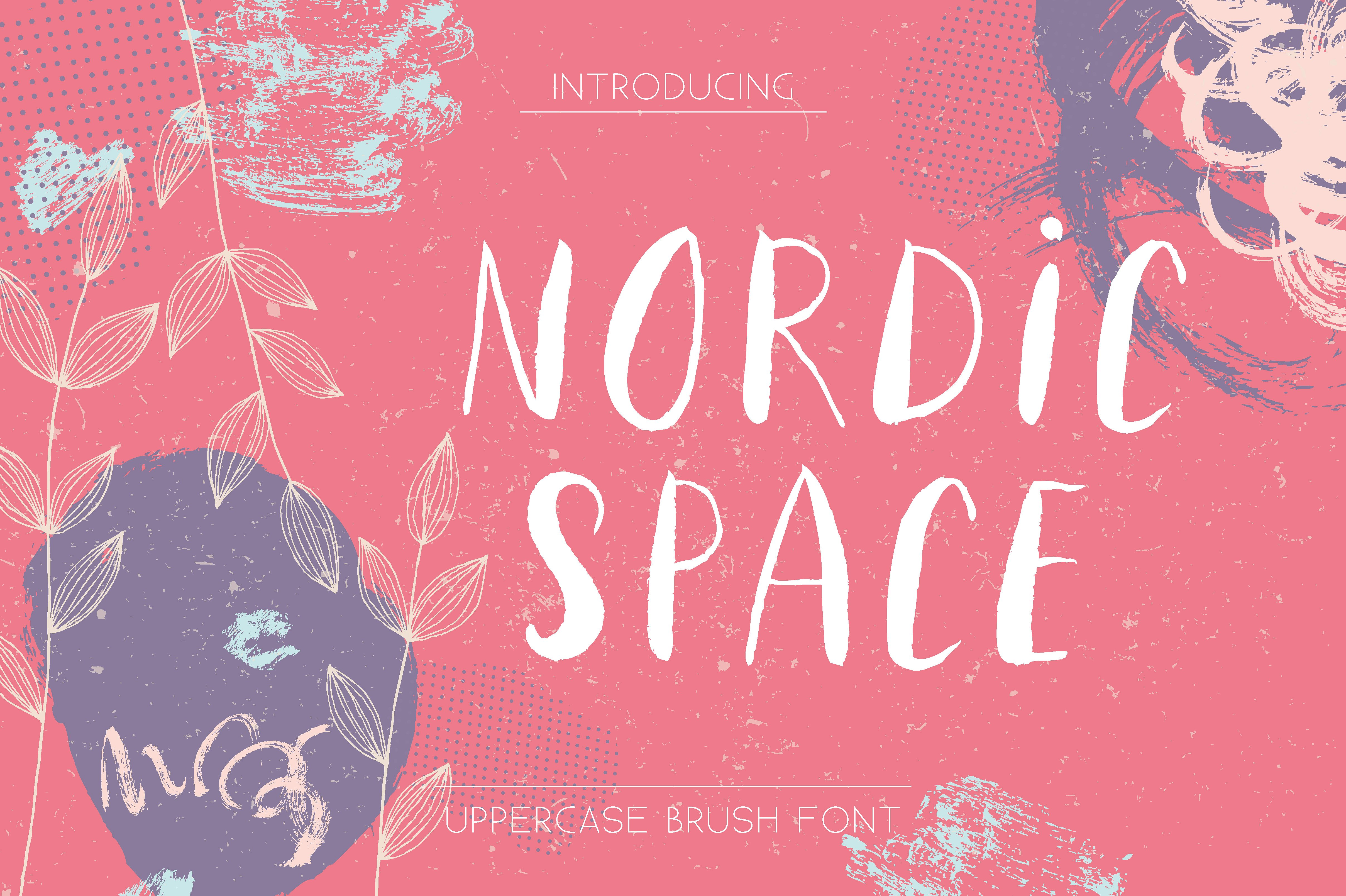 Nordic Space | Uppercase Font example image 1