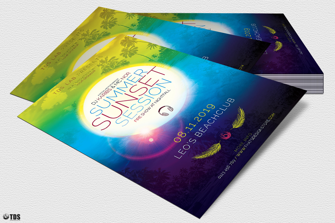 Summer Sunset Flyer Template example image 4