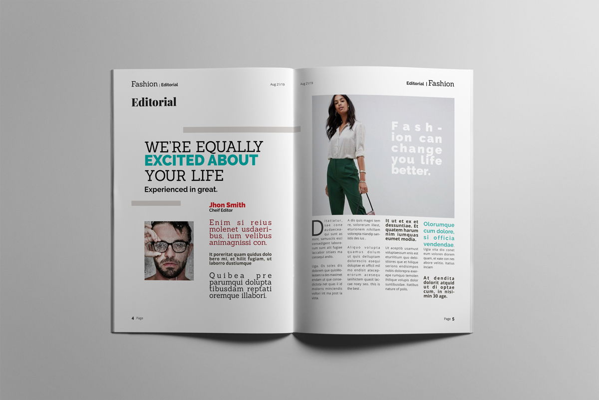 Magazine layout design example image 3