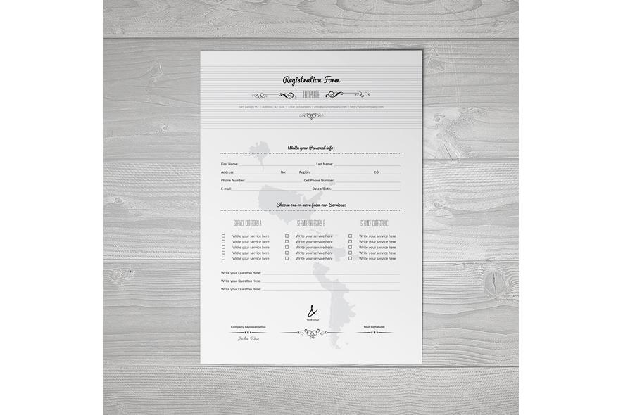 Registration Form Template v6 example image 4