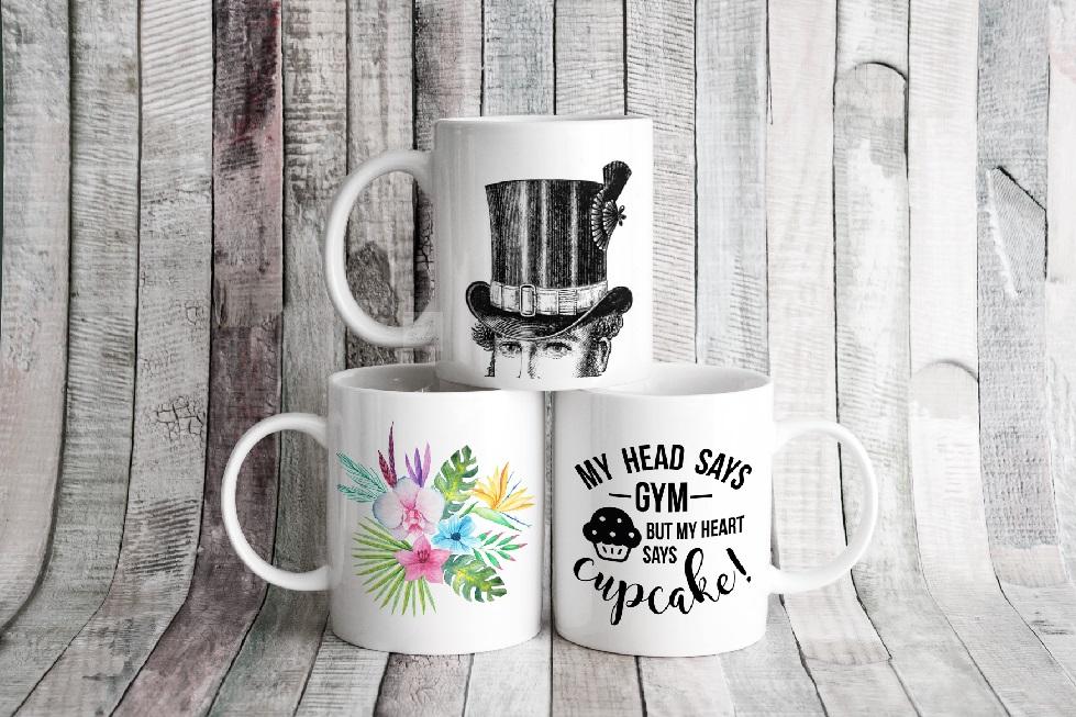 4x Bundle mug mockup PSD sublimation 11oz mugs mockups example image 10