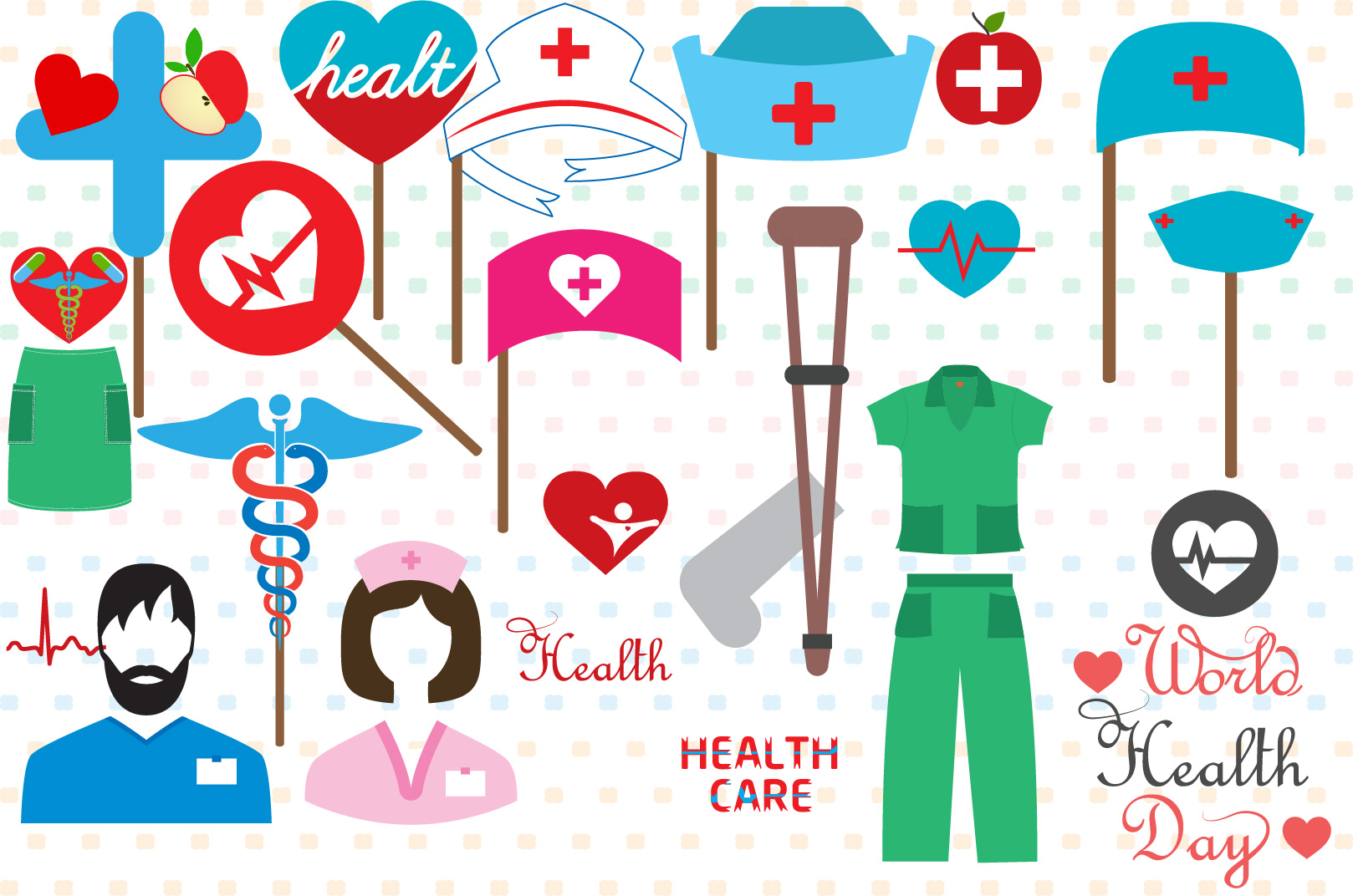 Doctor Medic Props Party Photo Booth SVG 206S example image 1