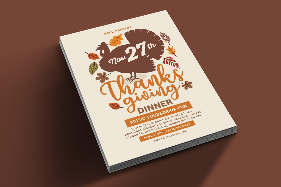Thanksgiving Flyer example image 2