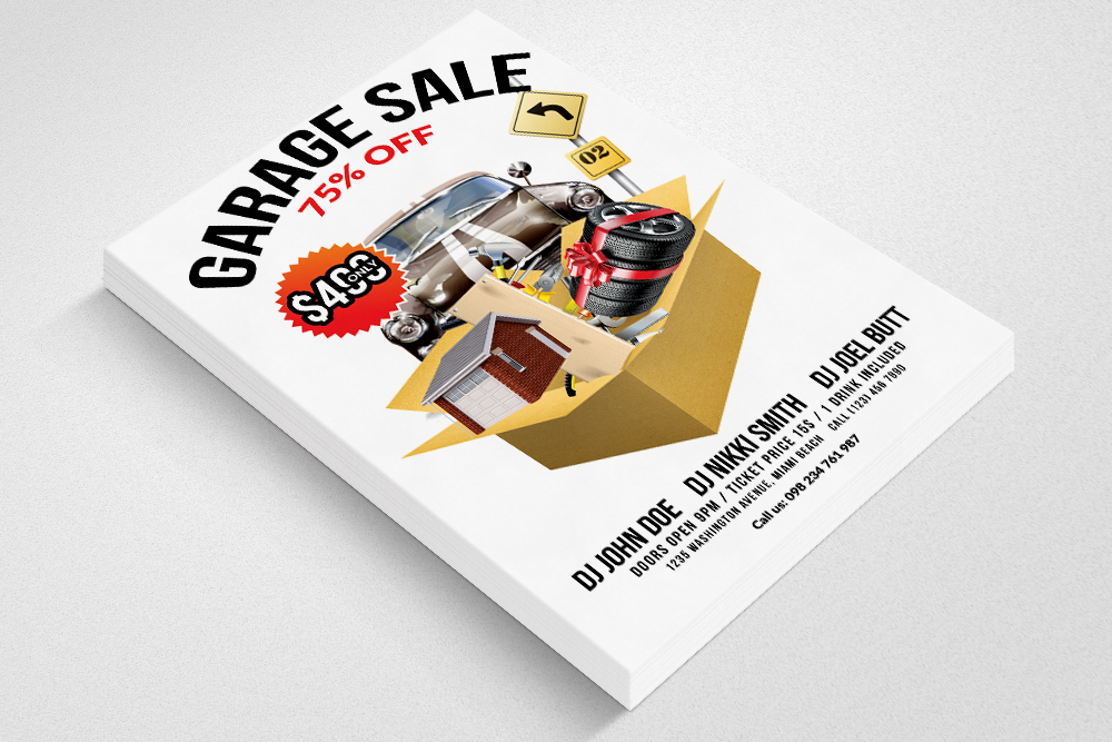 Garage Sale Flyer Print Templates example image 3