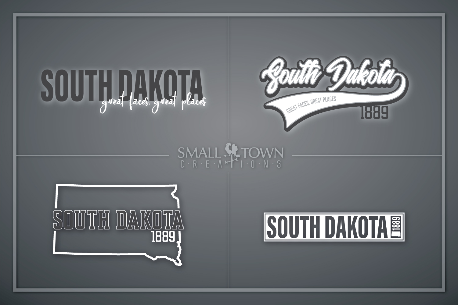 South Dakota, Great faces Great Places, PRINT, CUT & DESIGN example image 1