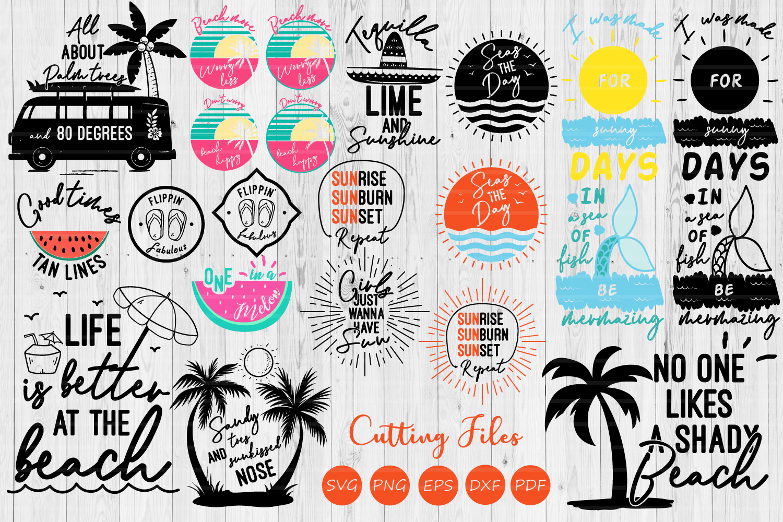 Summer bundle| SVG Cut file | Summer | Cricut | example image 1