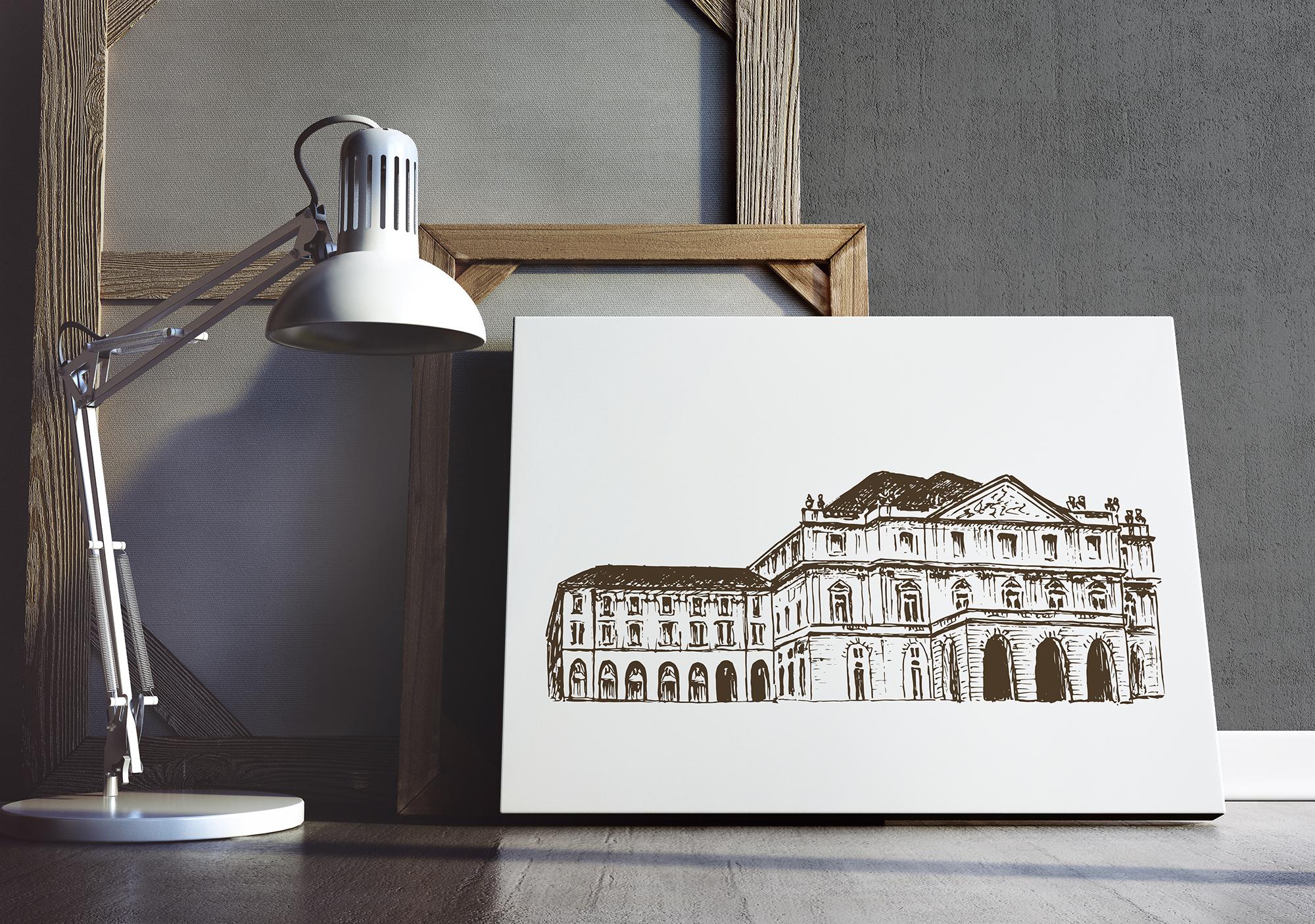 Set of Milan sketches example image 4
