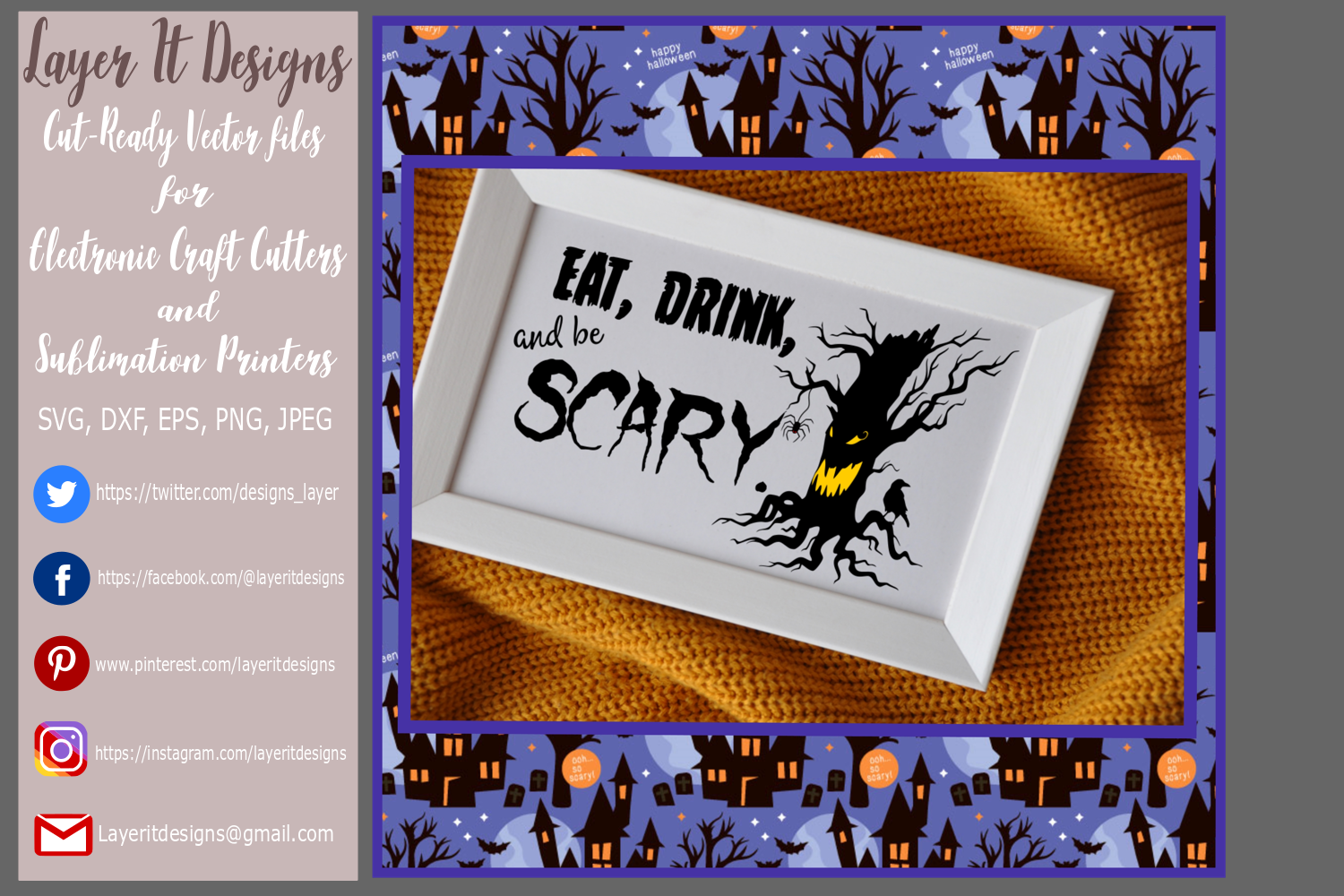 Eat Drink and be Scary Design File example image 2