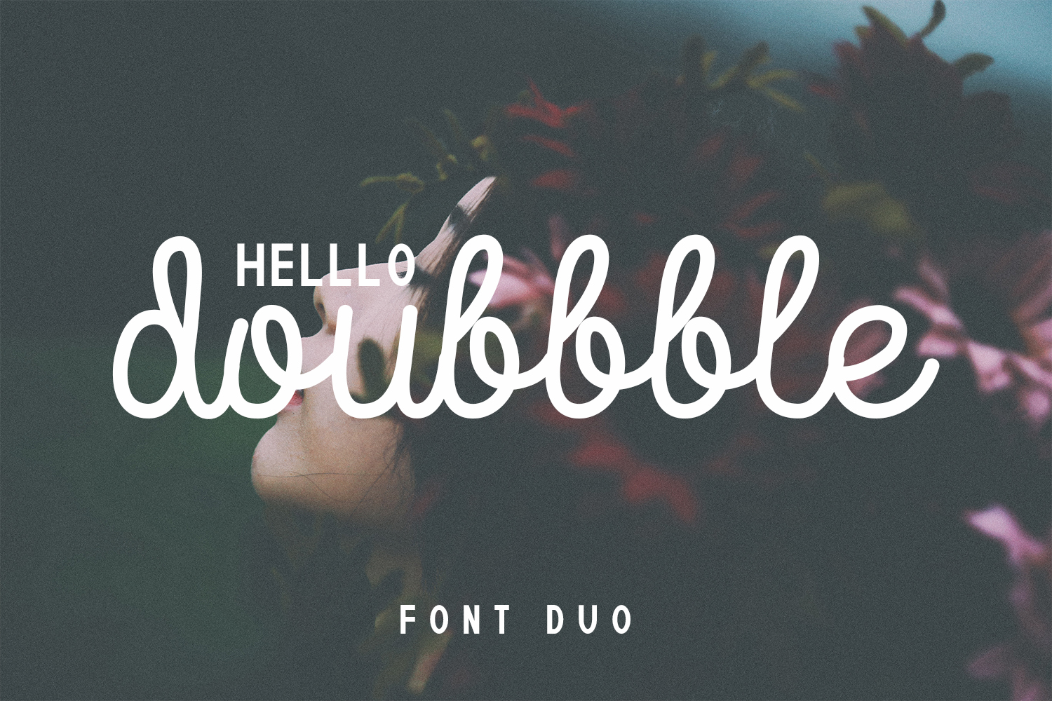 Doubbble Helllo Font Duo example image 1