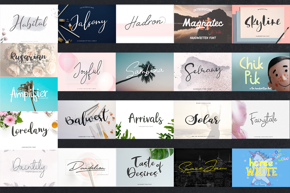 42 IN 1 NEW FONT BUNDLE example image 2