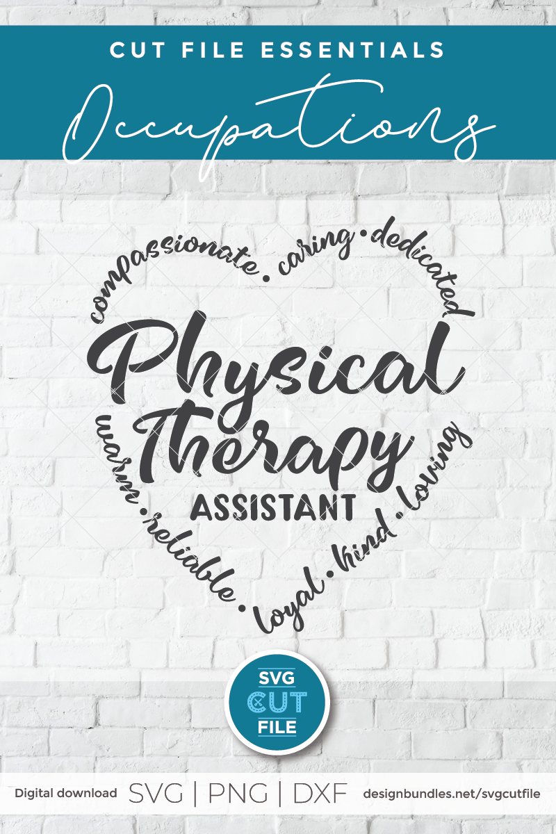 Physical therapy assistant svg, physical therapist svg, PTA example image 2
