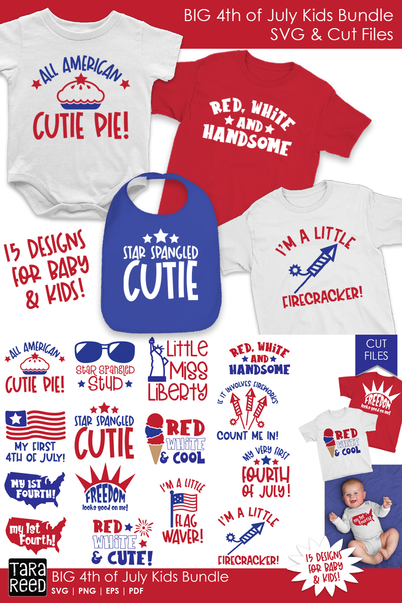BIG 4th of July Kids Bundle - SVG and Cut Files for Crafters example image 3
