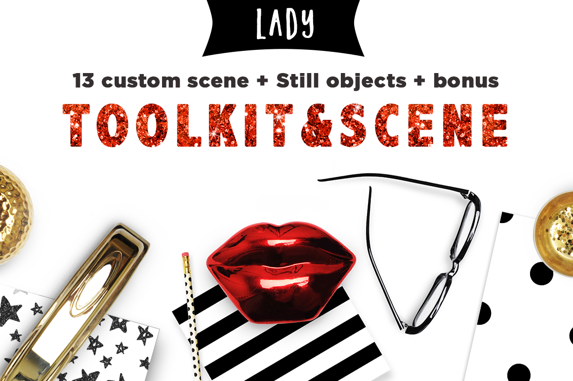 Toolkit Business Lady Mockups example image 1