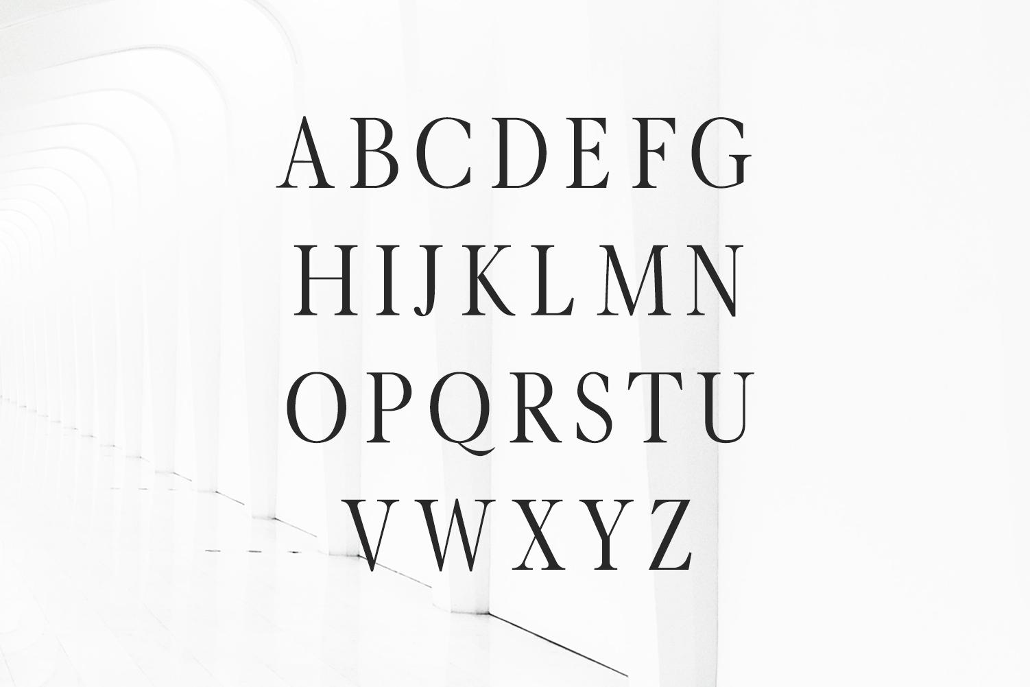 Glamour Luxury Serif Font Family example image 2