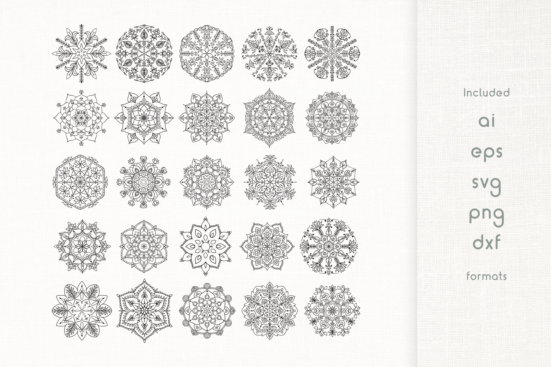 Handmade Floral Mandala Set of 25 example image 1