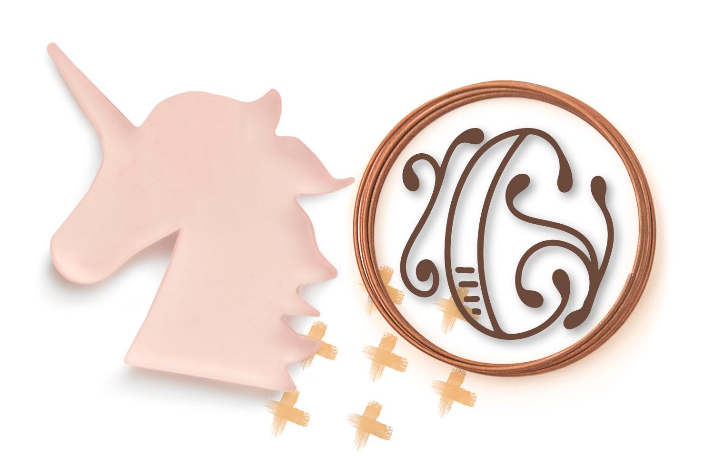 Monobam - Round Monogram Font example image 5