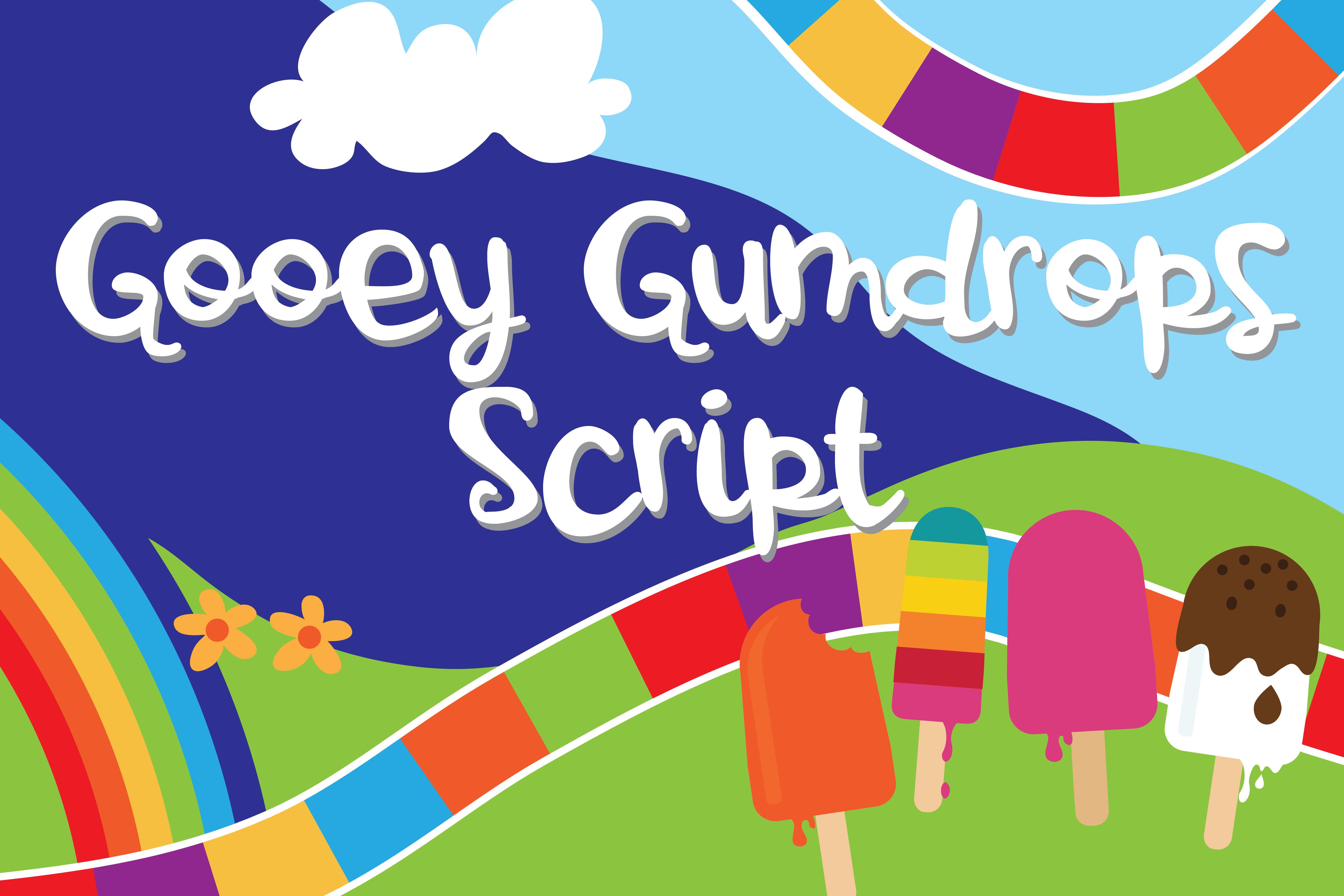 PN Gooey Gumdrops Script example image 1