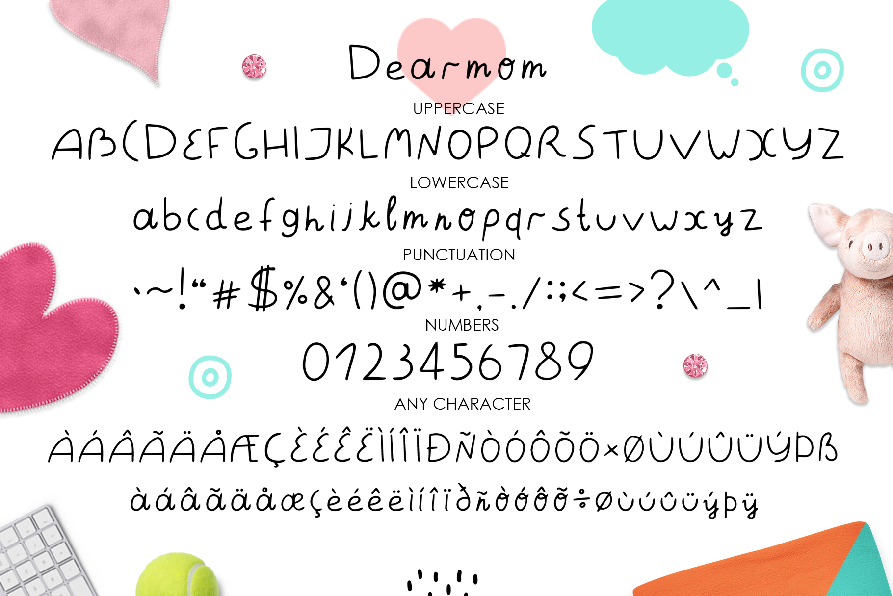 Dearmom and Deardad - Childrens font example image 2