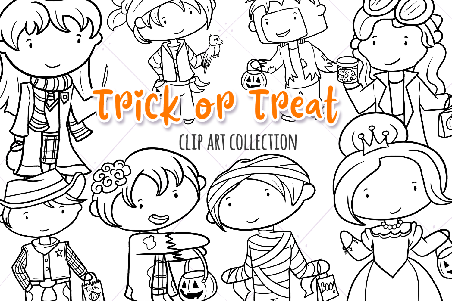 Trick or Treat Digital Stamps example image 1
