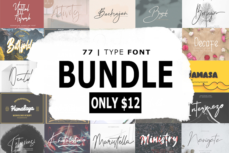 The Massive Bundle Of 46 Beautiful Fonts example image 1